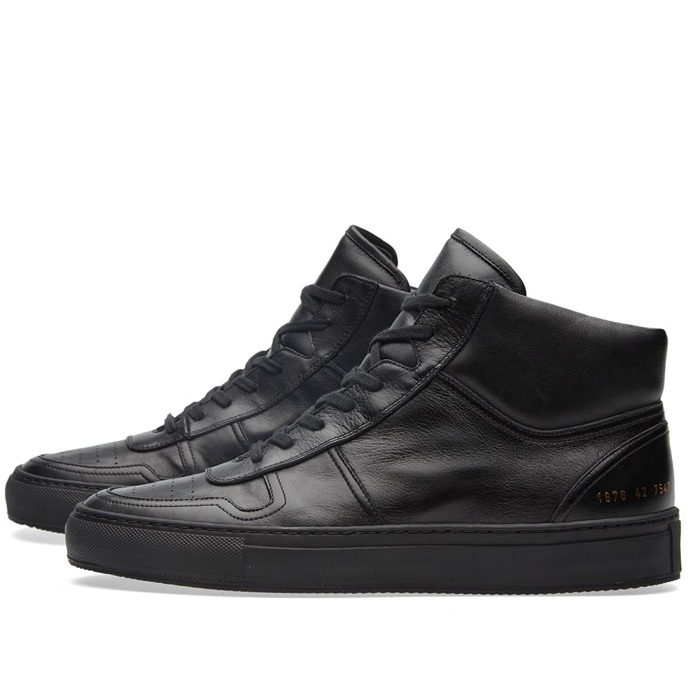 603ce1976a08 Common Projects B-Ball High Leather Black