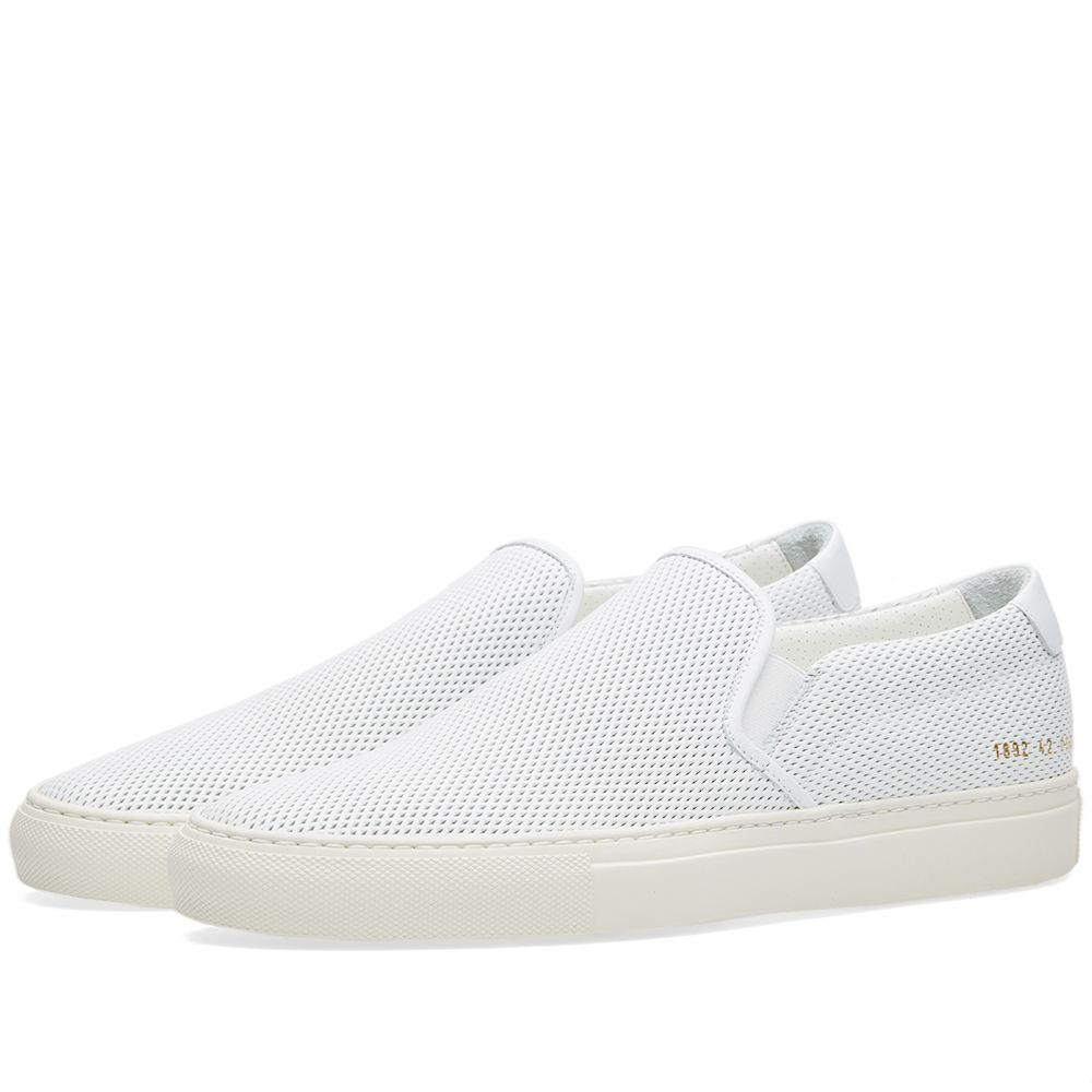 30c8e71124ee Common Projects Slip On Leather Perforated White