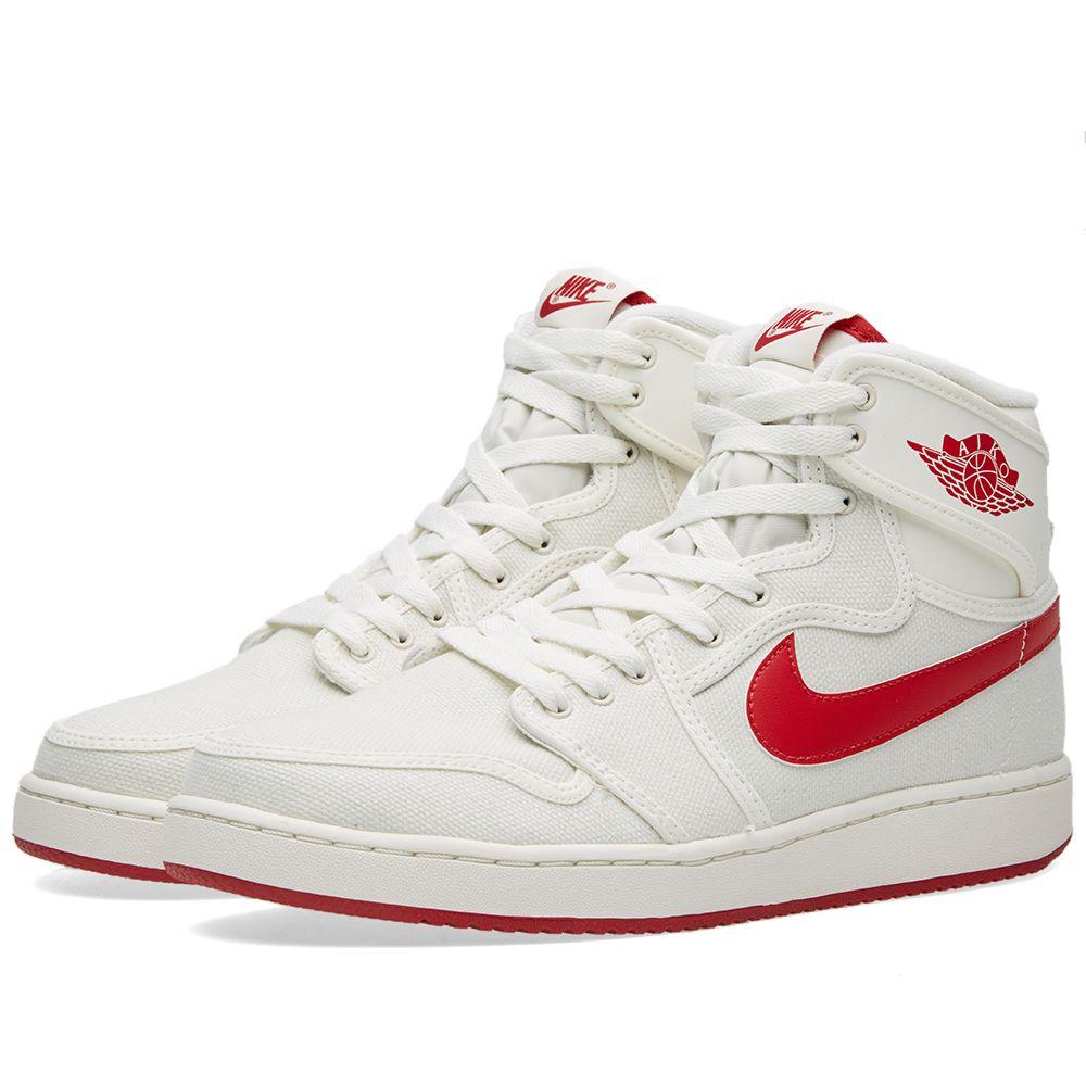 newest 0cdf2 54d47 Nike Air Jordan 1 KO High OG Sail   Varsity Red   END.