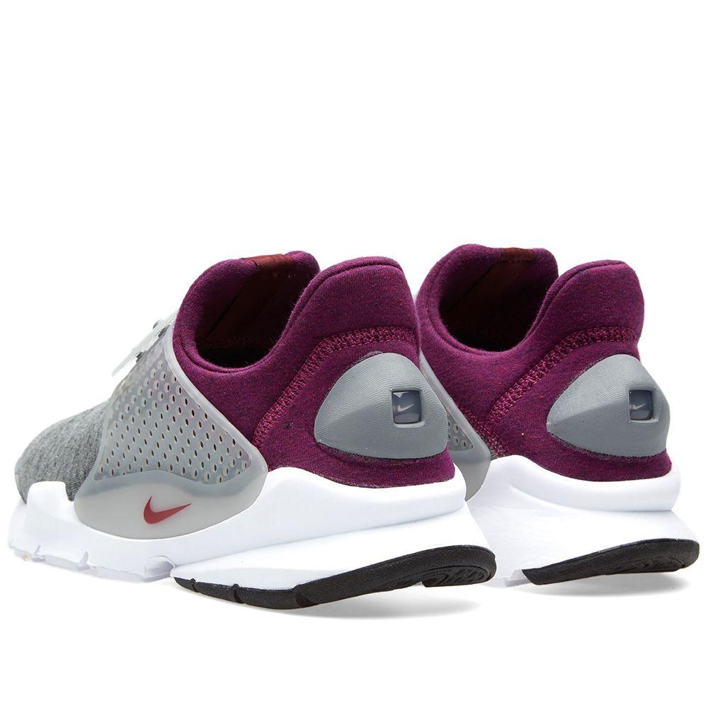 5c216c94f018 Nike Sock Dart Tech Fleece Grey Heather   Mulberry