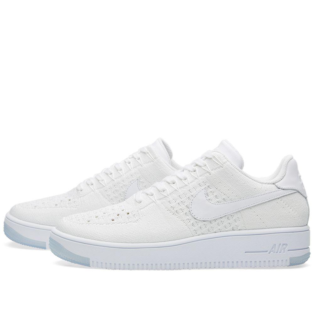 8ece655cd84 Nike W Air Force 1 Flyknit Low. White. £119 £69