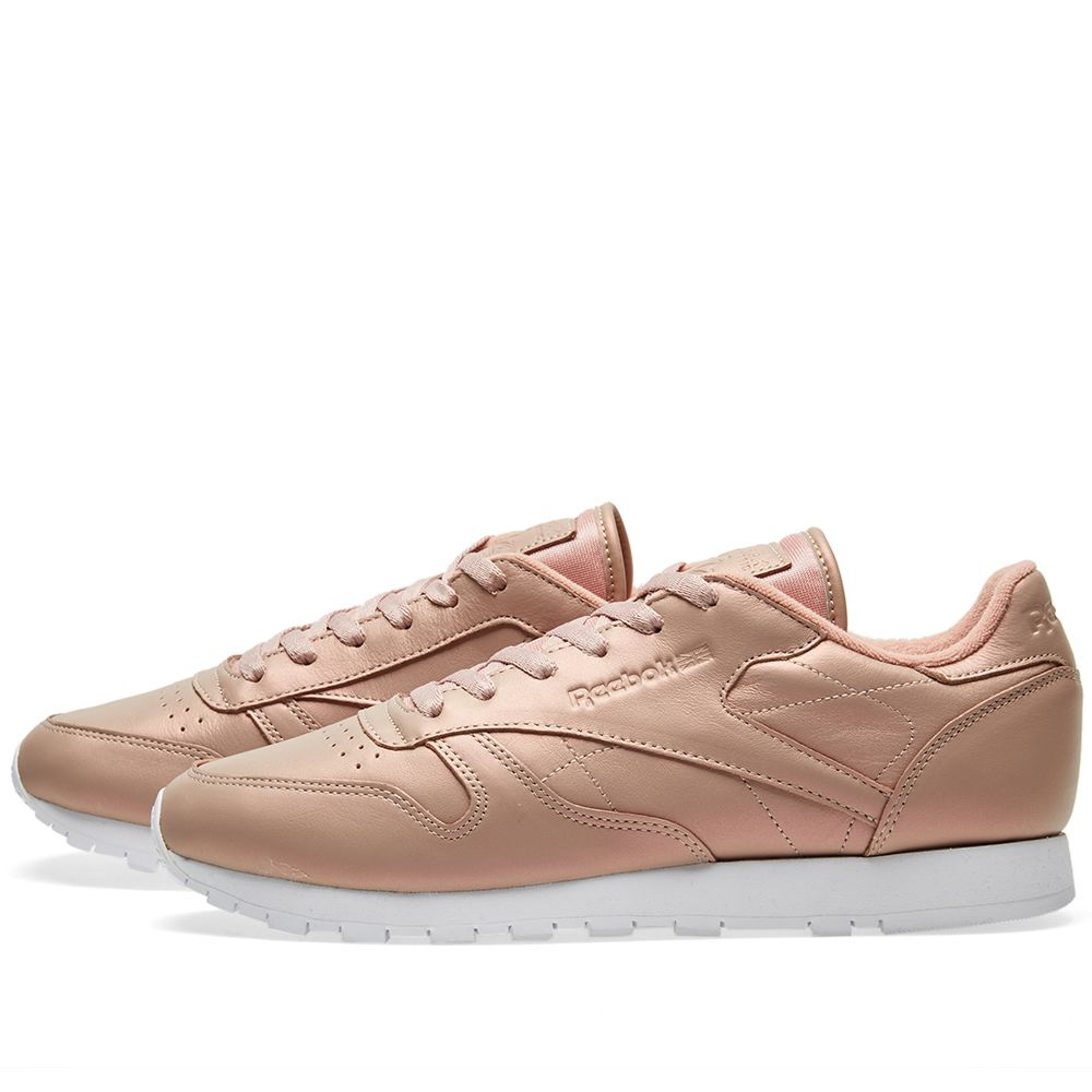 fb705f8bd1b6 Reebok Women s Classic Leather  Pearlized  Rose Gold   White
