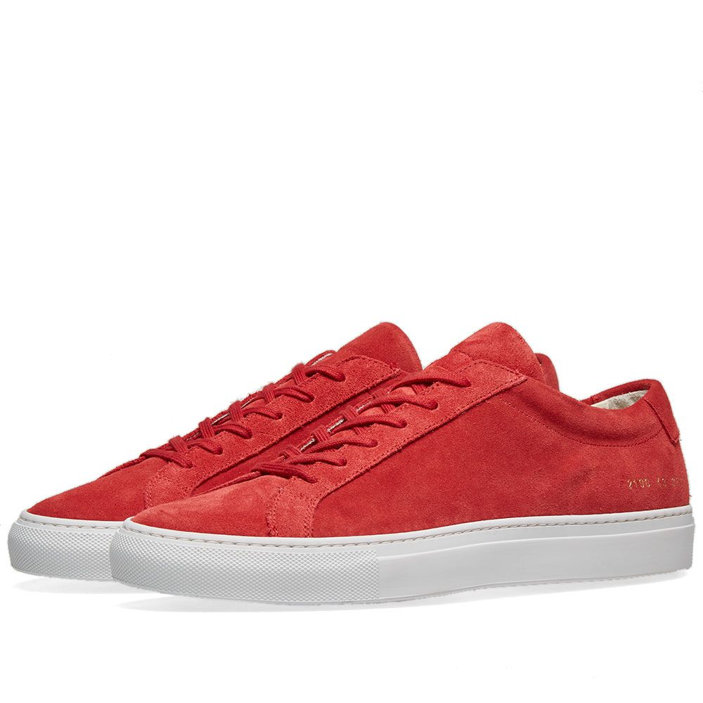 f15cd01fc757 Common Projects Original Achilles Low Suede Red