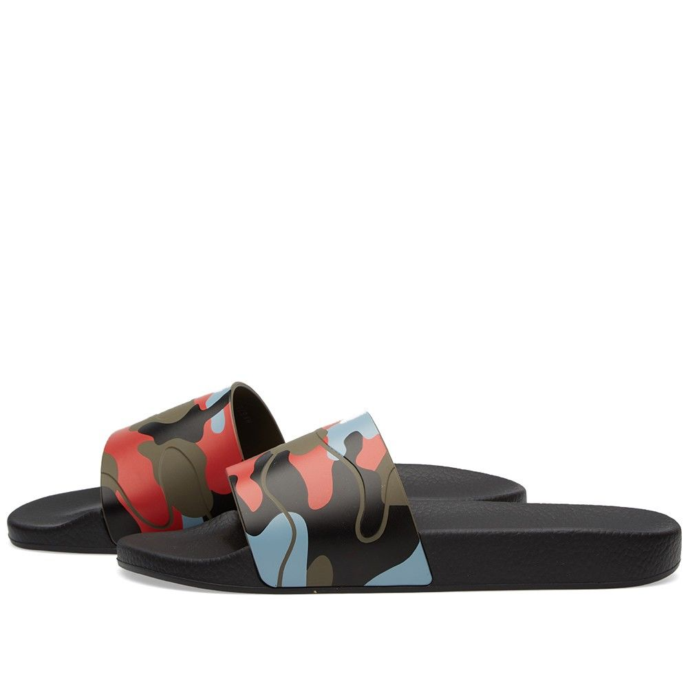 b953271a1c83 Valentino Camo Slide. Army Green   Coral.  229. Plus Free Shipping. image.  image. image. image
