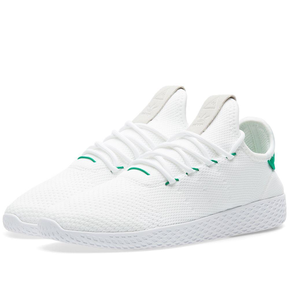 f502c0d4e4028 Adidas x Pharrell Williams Tennis HU. White   Green. DKK835. Plus Free  Shipping. image