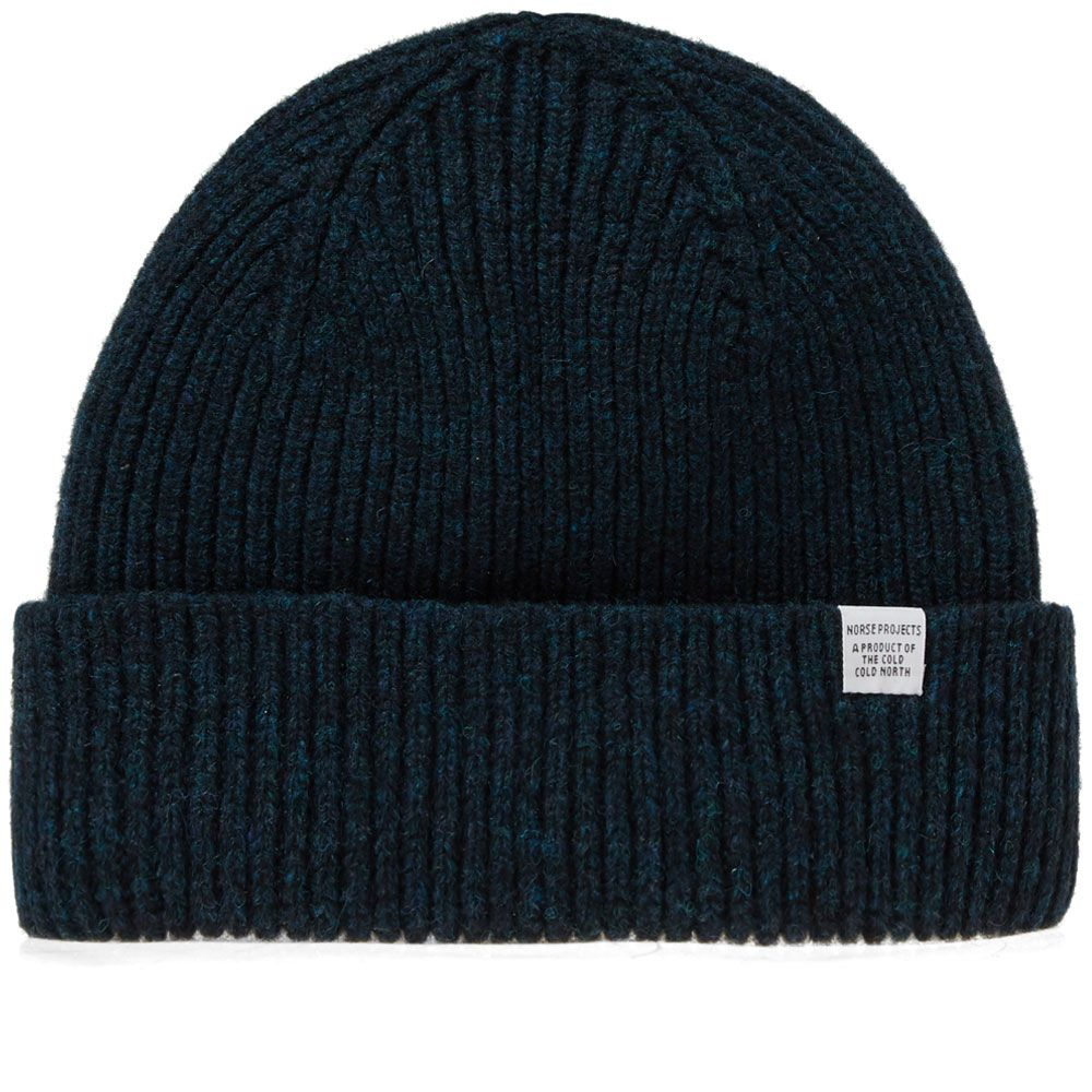 Norse Projects Norse Lambswool Beanie. Dark Navy. £60 £39. image b147c4a8eba