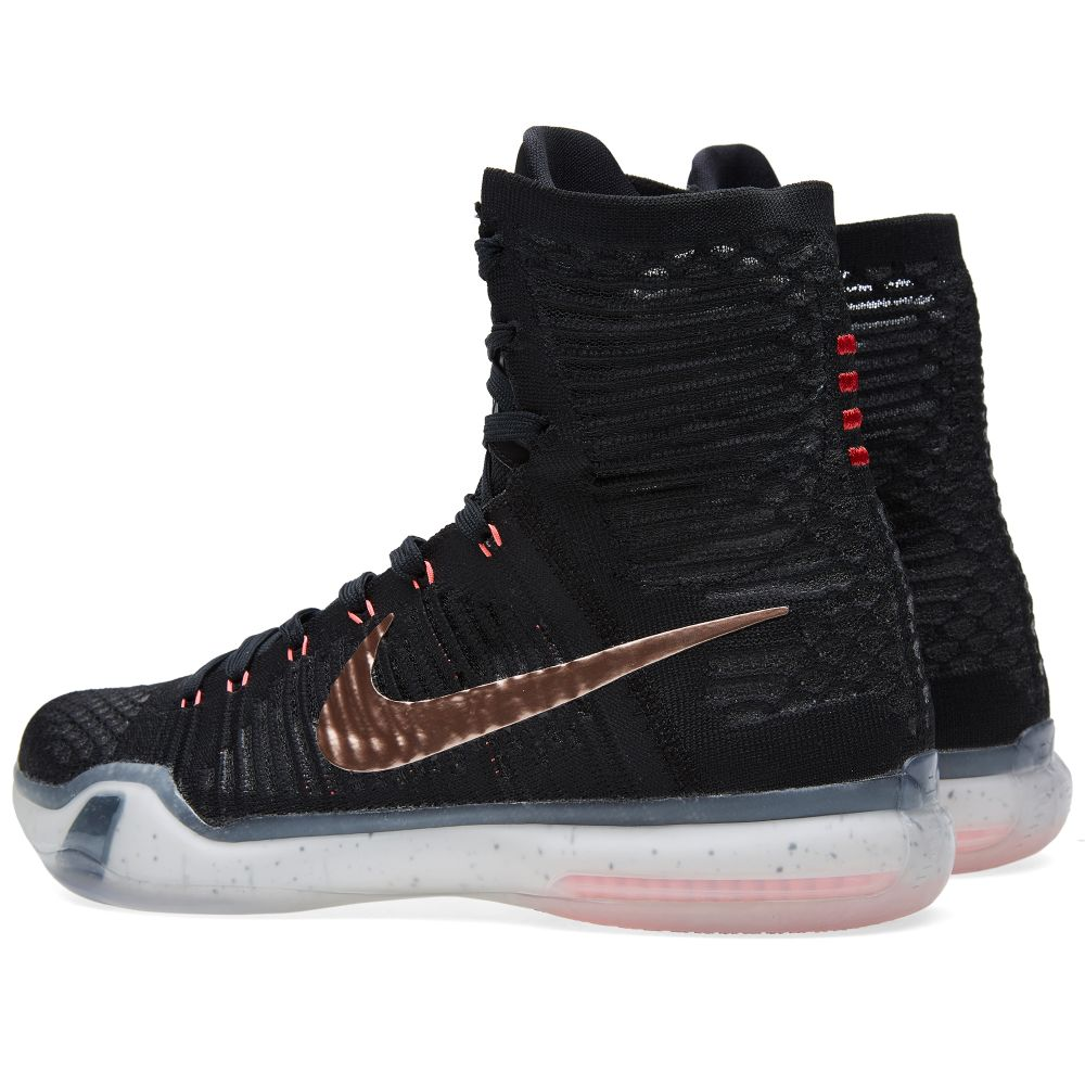 new arrival 51f29 c98b2 Nike Kobe X Elite  Rose Gold  Black   Metallic Red Bronze   END.