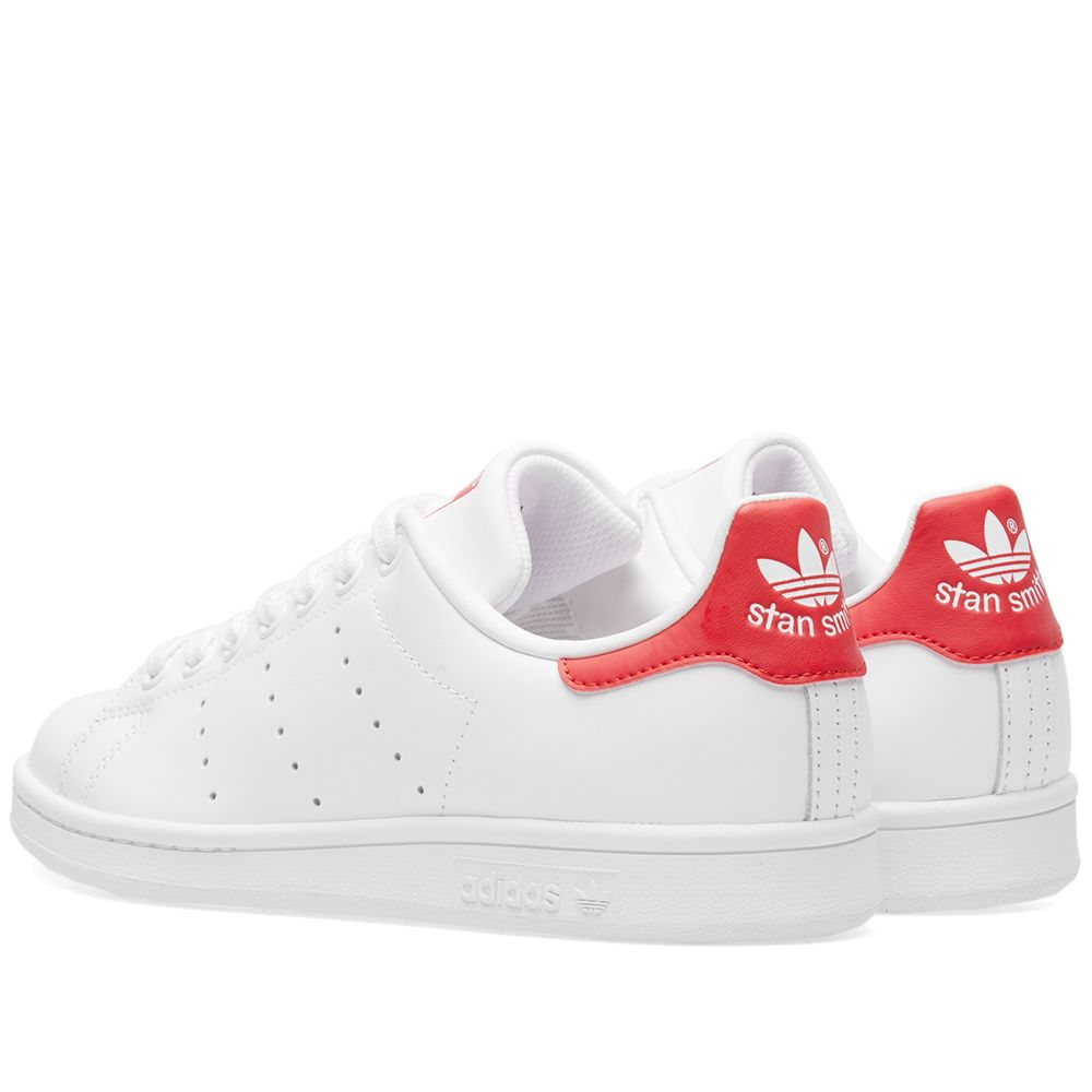 325820247ae631 Adidas Stan Smith Running White   Collegiate Red