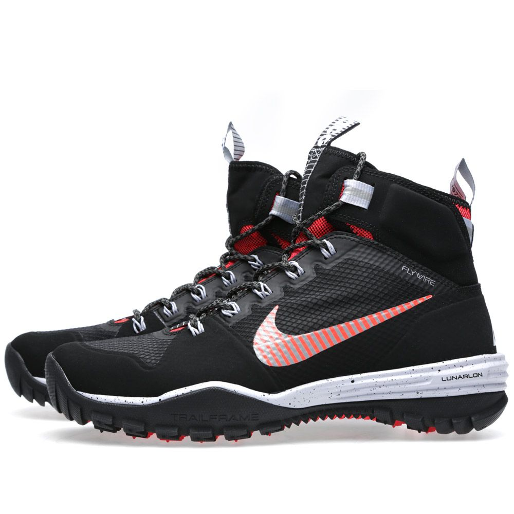 reputable site 6dcb5 cbe68 Nike Lunar Incognito Mid Black  Metallic Silver  END.