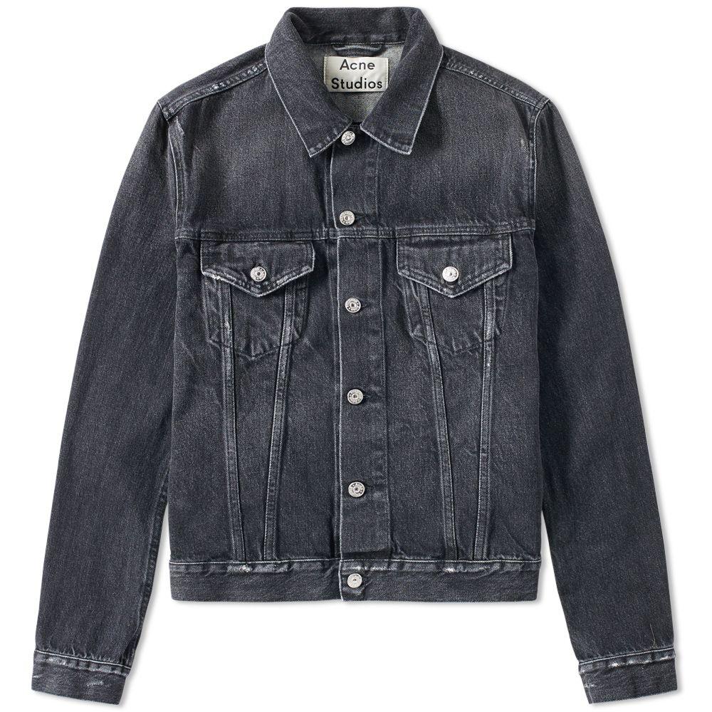 Acne Black Denim Jacket acne studios who denim jacket vintage black | end.