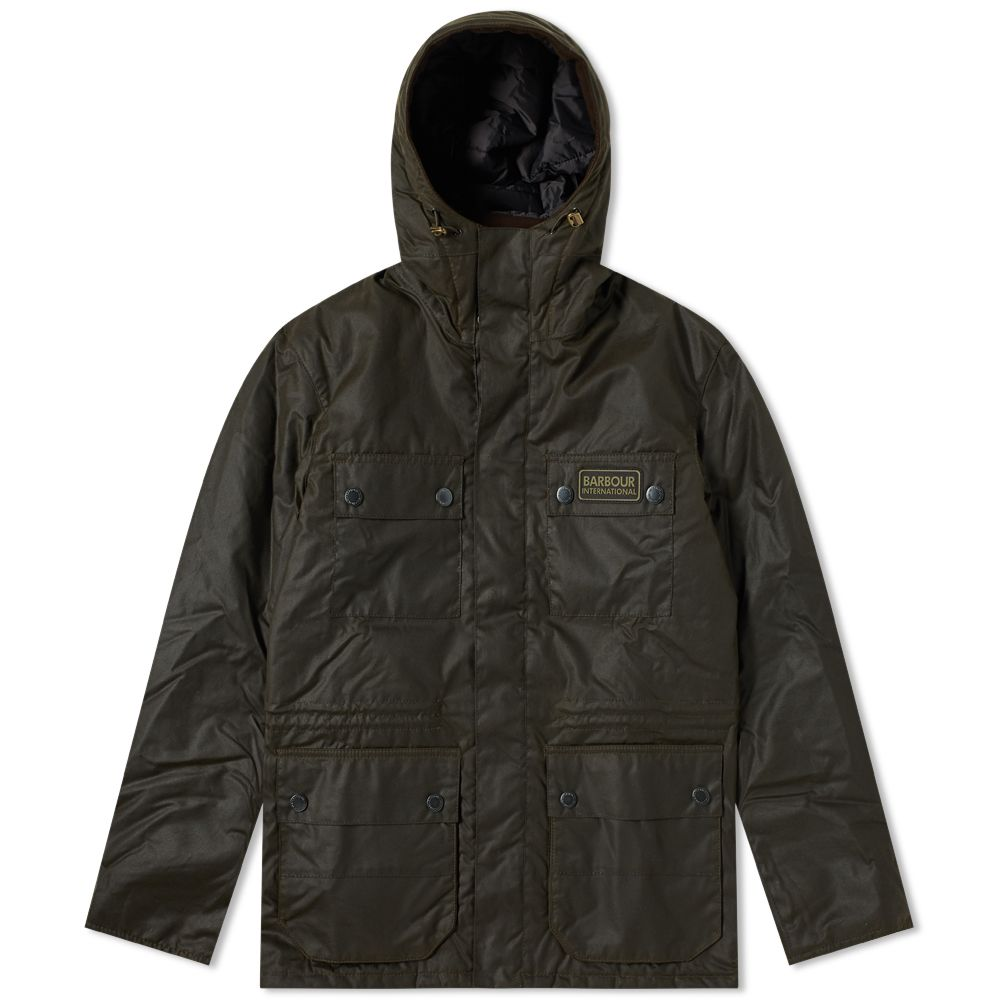 Barbour International Imboard Wax Jacket Olive  3daa6eb3ef16