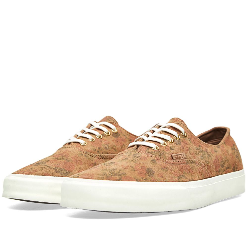 05d7f1befb6988 Vans Authentic Decon CA Floral Suede   Indian Tan