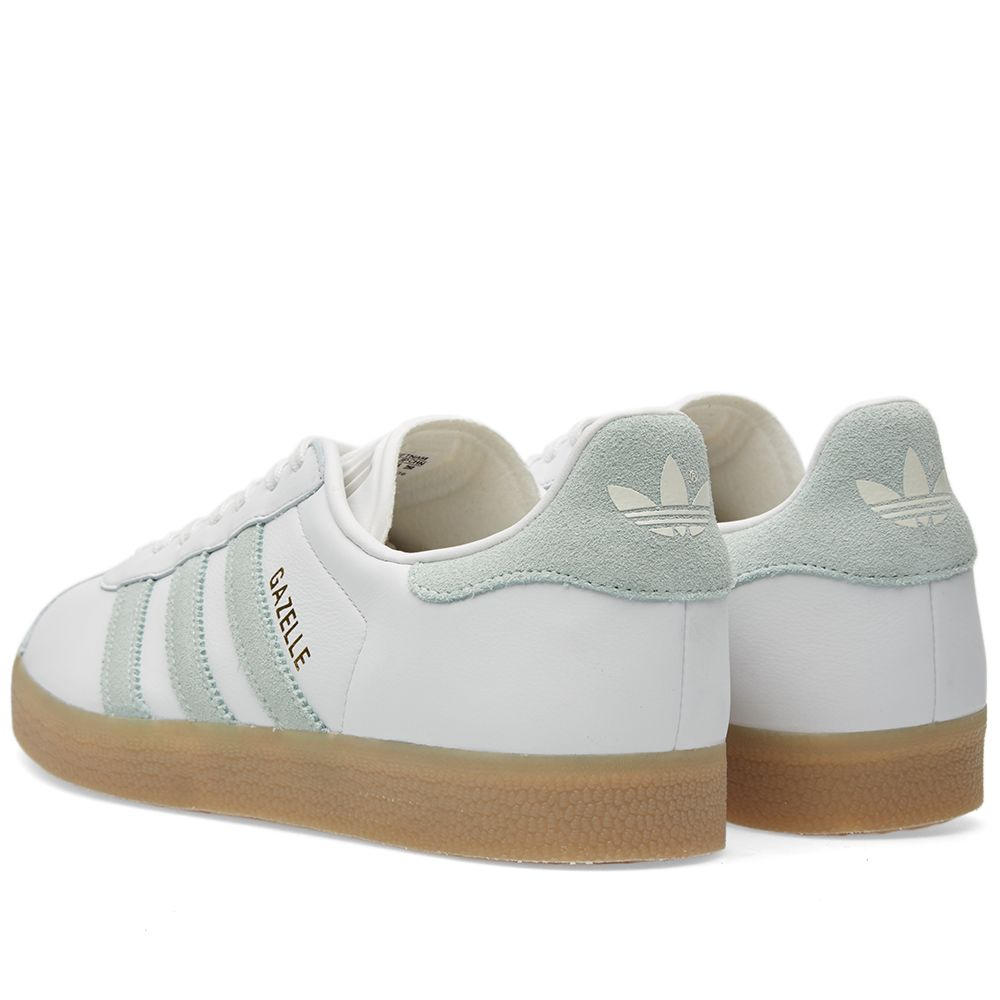 check out 45b3d cb833 Adidas Womens Gazelle 85 W Vintage White  Vapour Green  END.