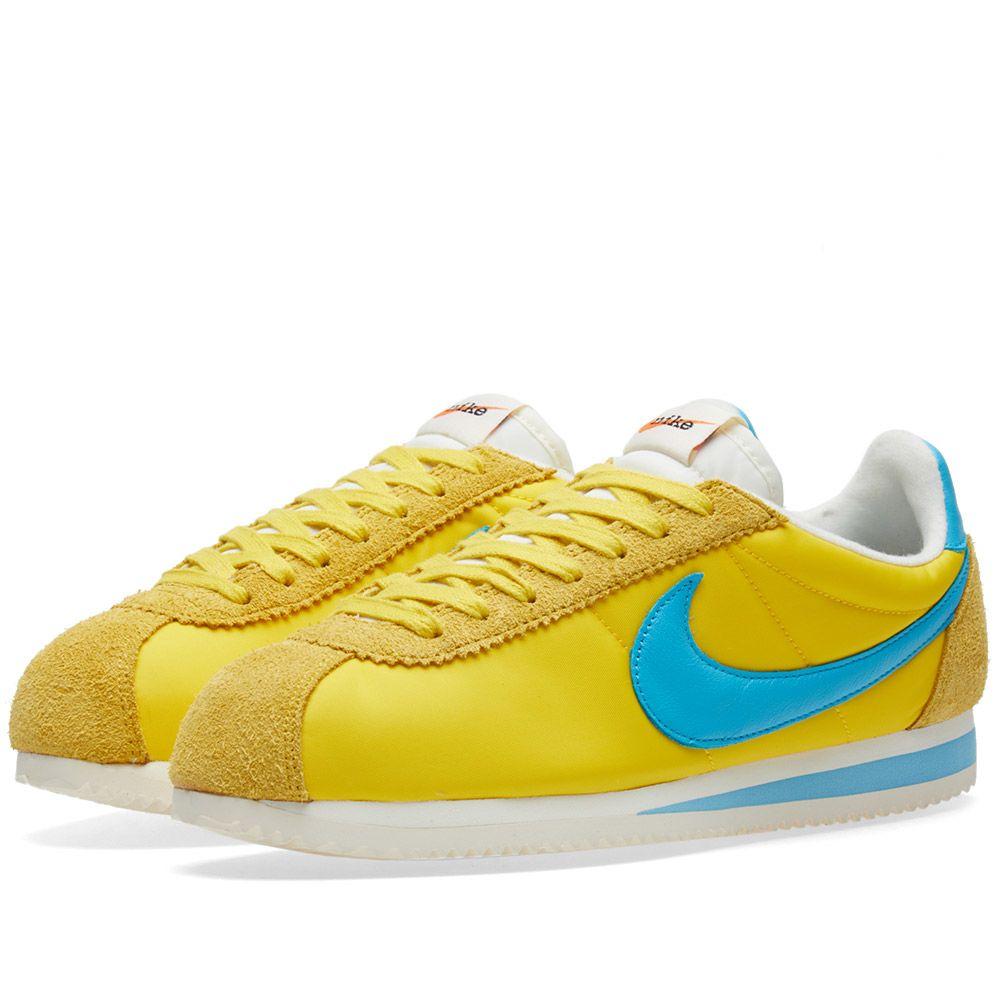 Nike x Kenny Moore Classic Cortez Nylon QS. Tour Yellow   Chlorine Blue.  AU 105 AU 59. image ffd73913c1b3