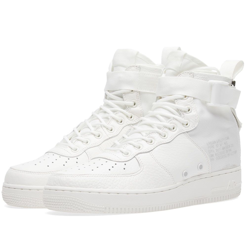 Nike SF Air Force 1 Mid Triple Ivory  720c8e0196fb