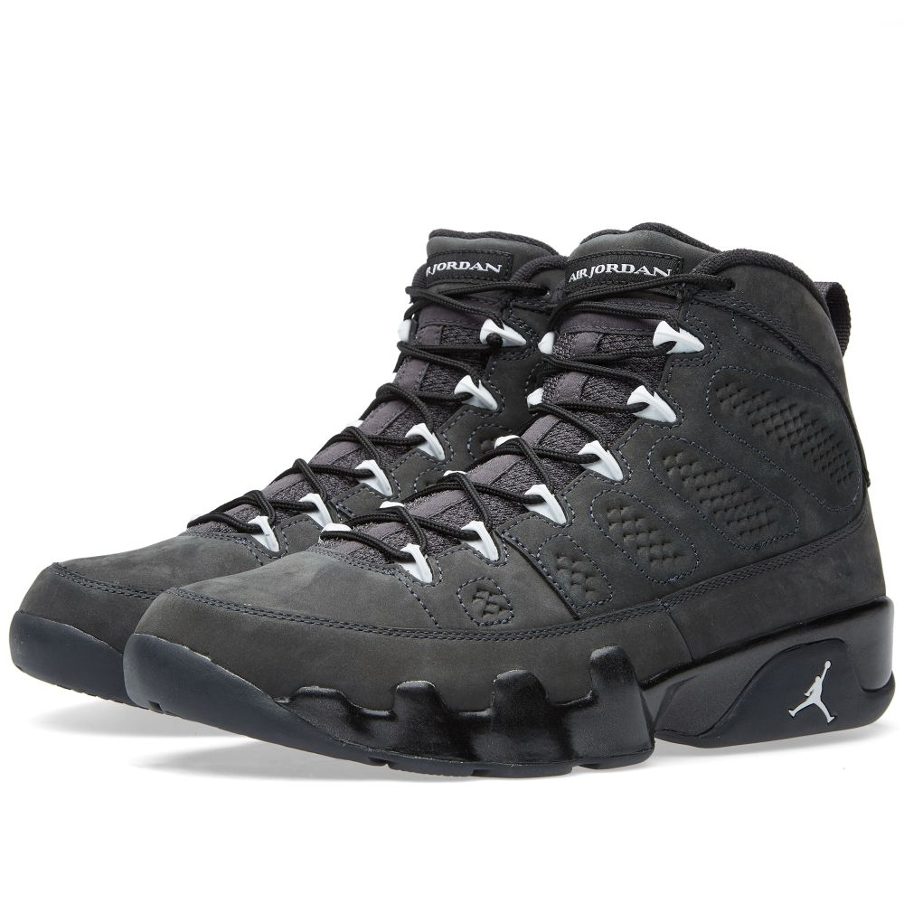 finest selection 5fc54 844d0 Nike Air Jordan 9 Retro Anthracite, White   Black   END.