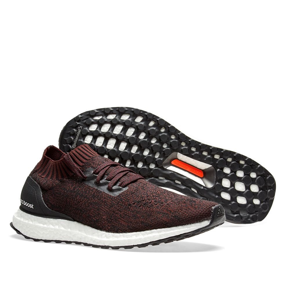 Adidas Ultra Boost Uncaged Core Black   Dark Burgundy  a3b36b9fbd