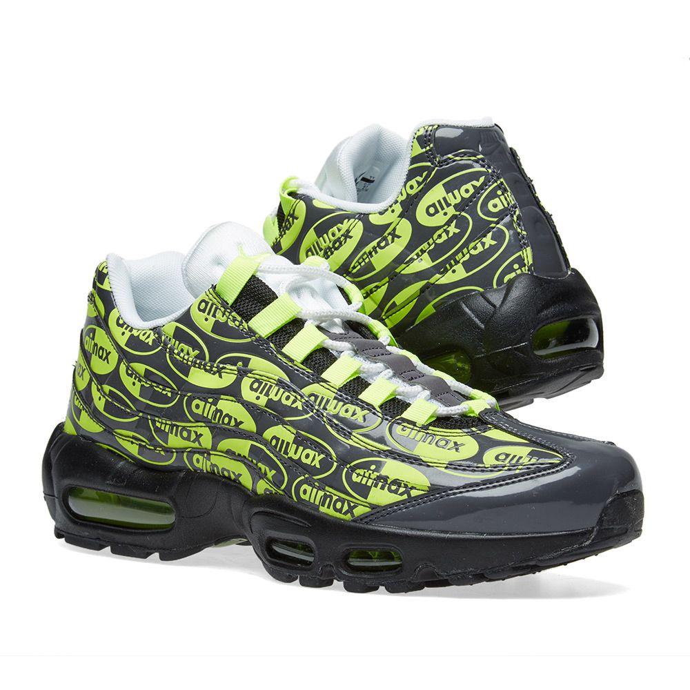 innovative design bb8c3 97969 Nike Air Max 95 Premium Black, Volt, Ash  White  END.