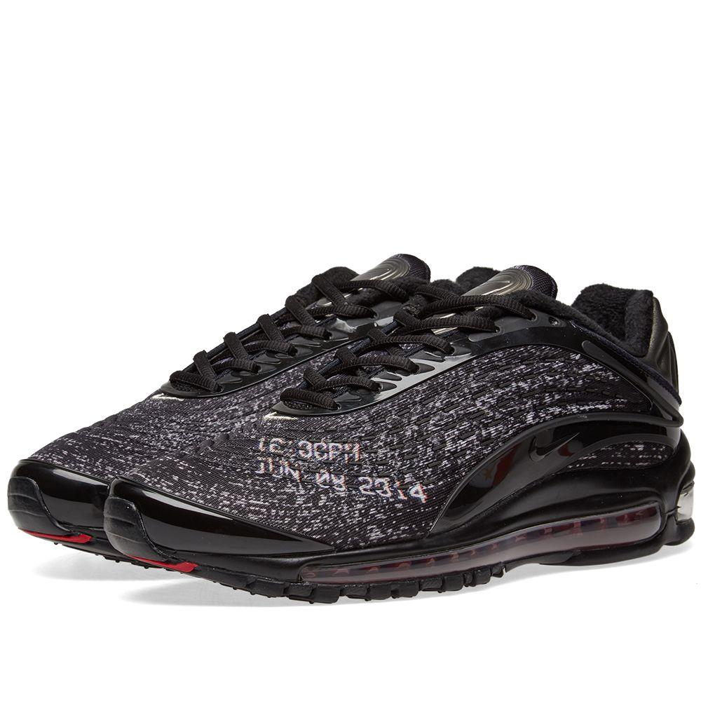 best website 6f5c3 819bb Nike x Skepta Air Max Deluxe Black  Deep Red  END.