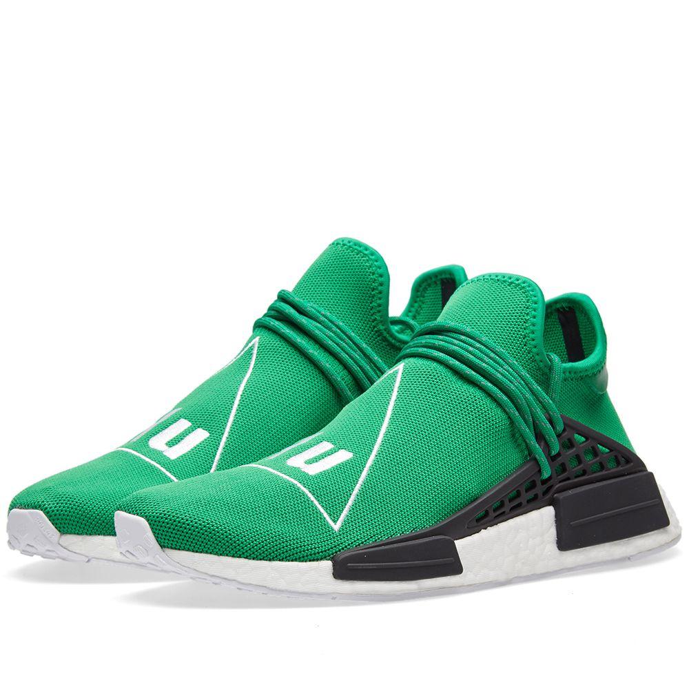 07c78c178 Adidas X Pharrell Williams Hu Human Race Nmd Green Running White