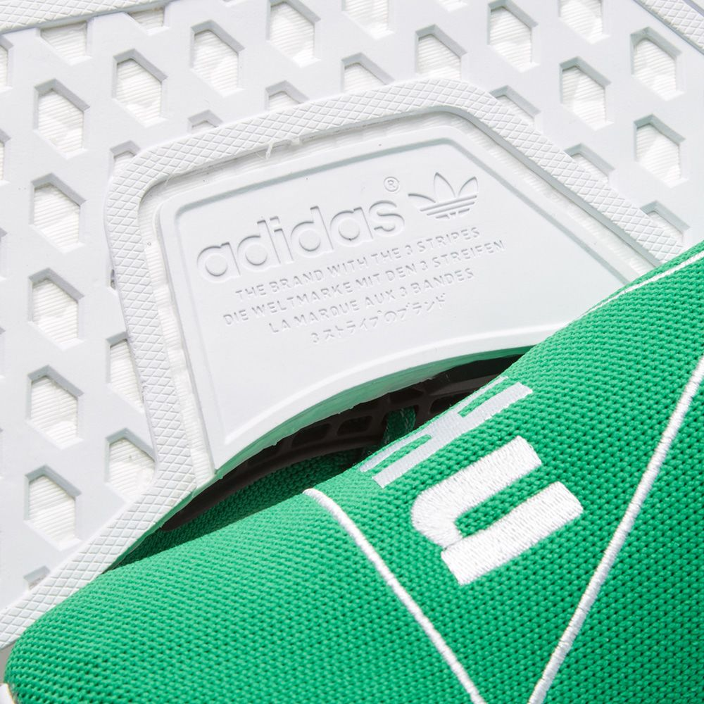 81dd1f50a4cd Adidas x Pharrell Williams Hu Human Race NMD Green   Running White ...
