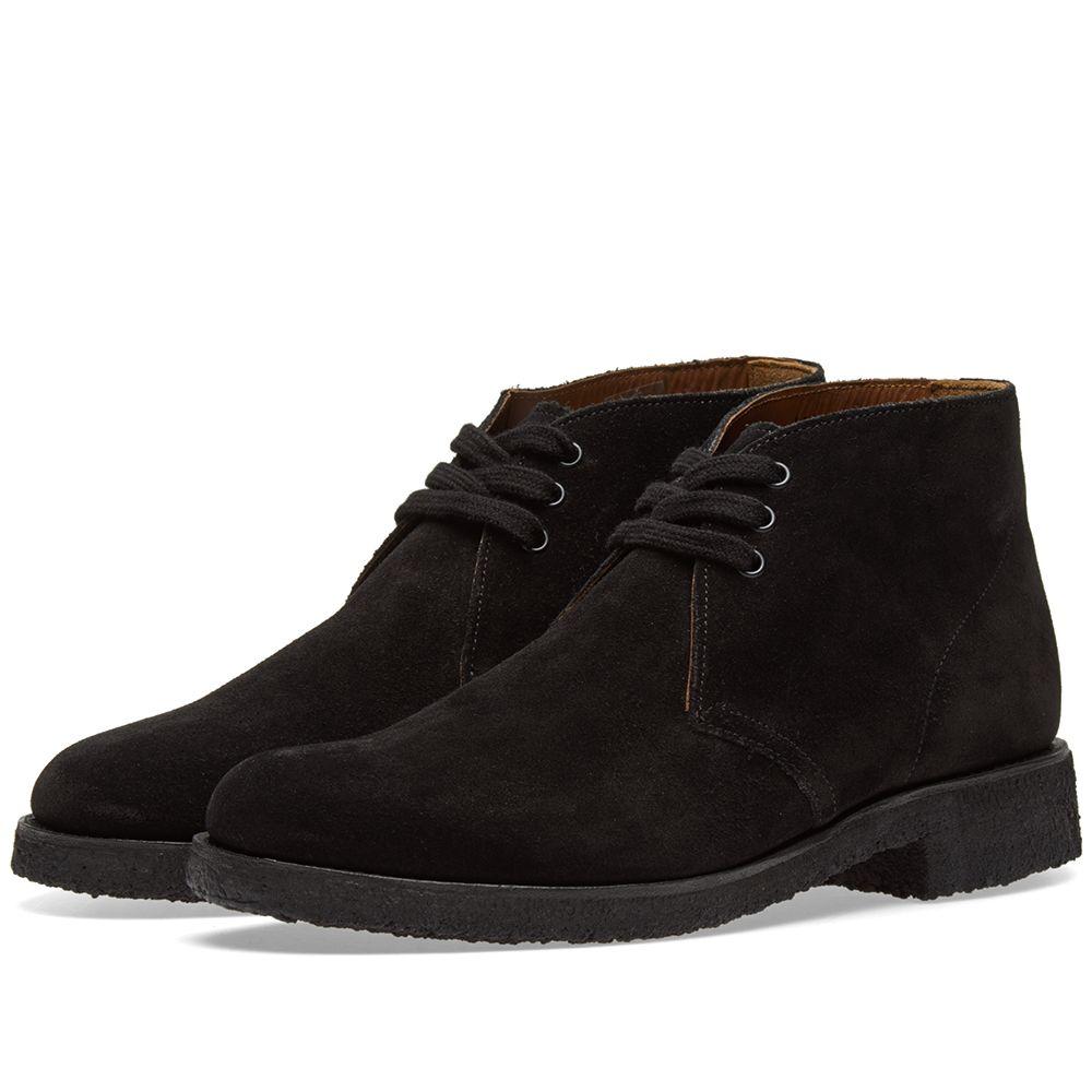 64e942177b8281 Grenson Oscar Chukka Boot Black Suede