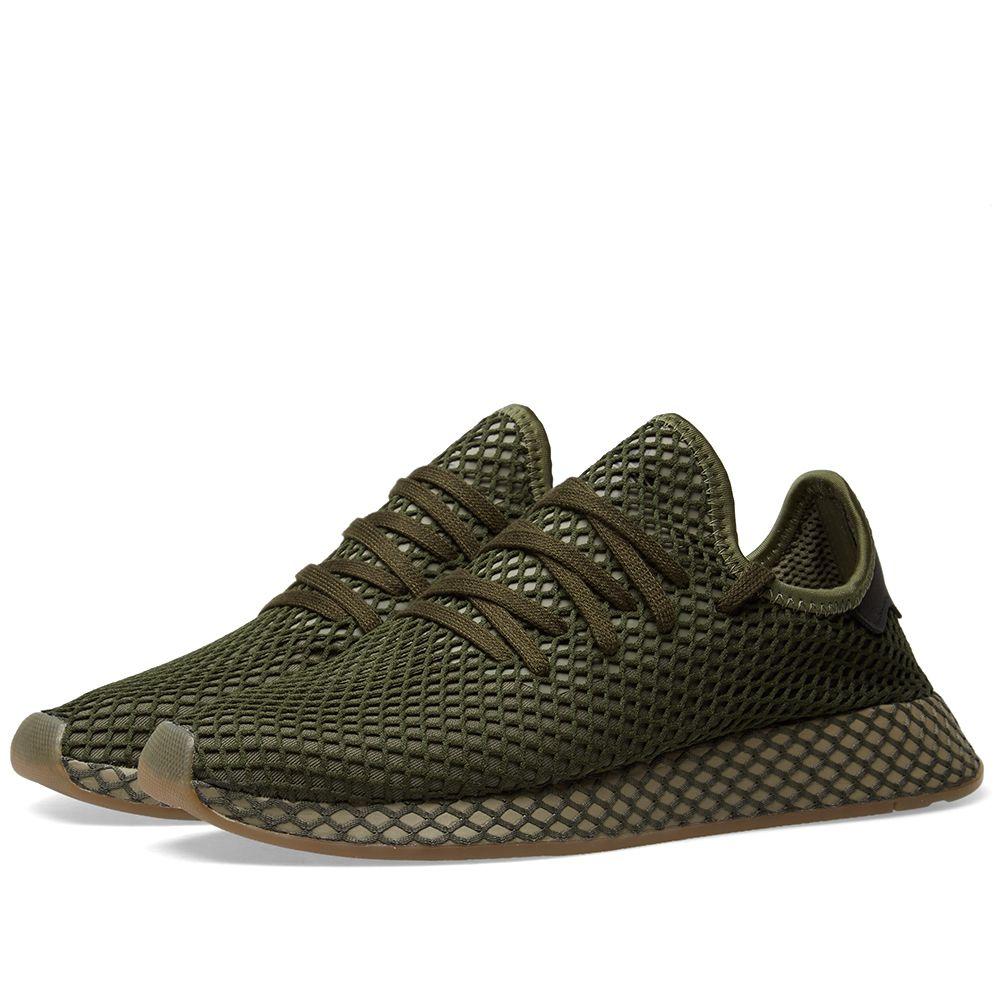 8b0d691e22df4 Adidas Deerupt Runner Base Green   Orange