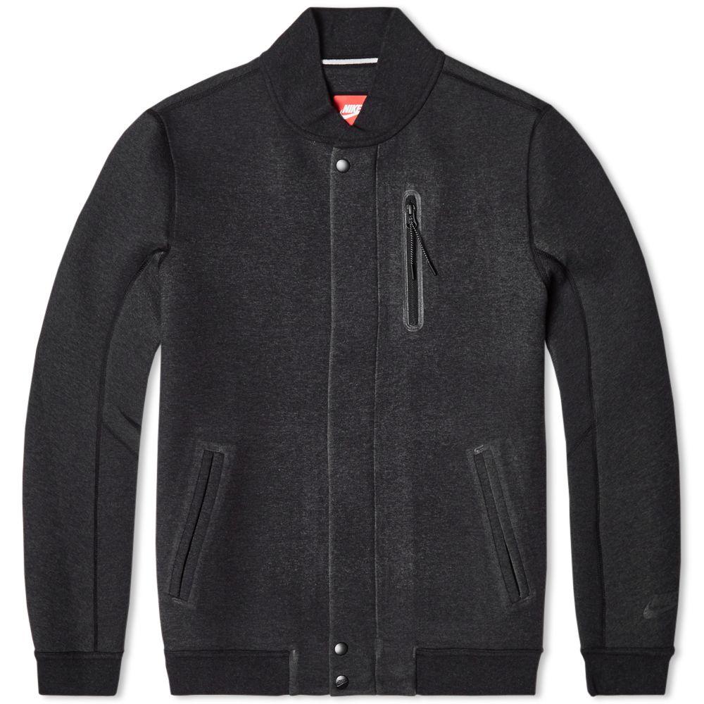 online retailer 6109b 7b4e8 Nike Tech Varsity Jacket 3MM Black Heather  END.