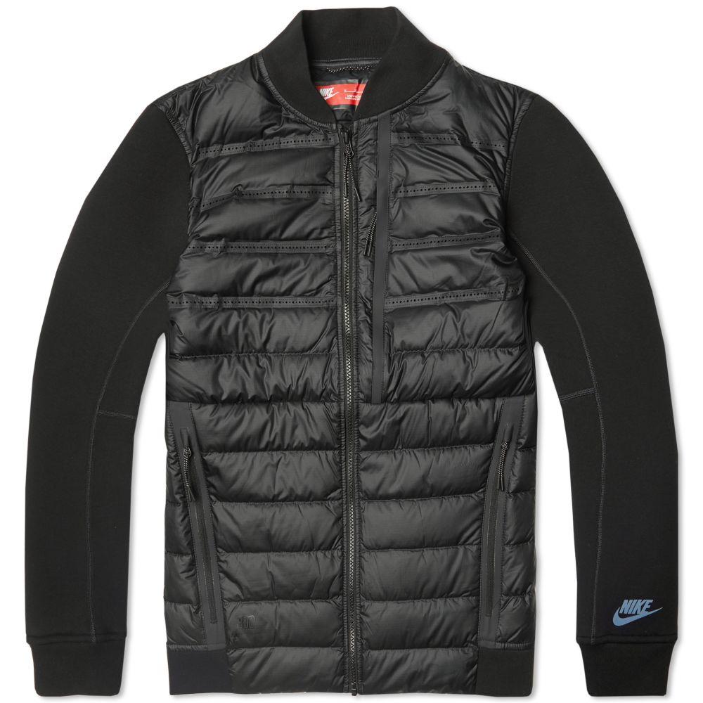 ed72066c2a6d Nike Tech Fleece Aeroloft Bomber Jacket Black