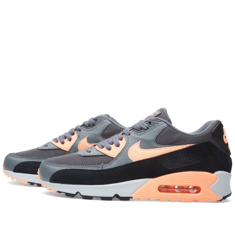 Nike W Air Max 90 Essential Dark Grey   Sunset Glow  36549518fd