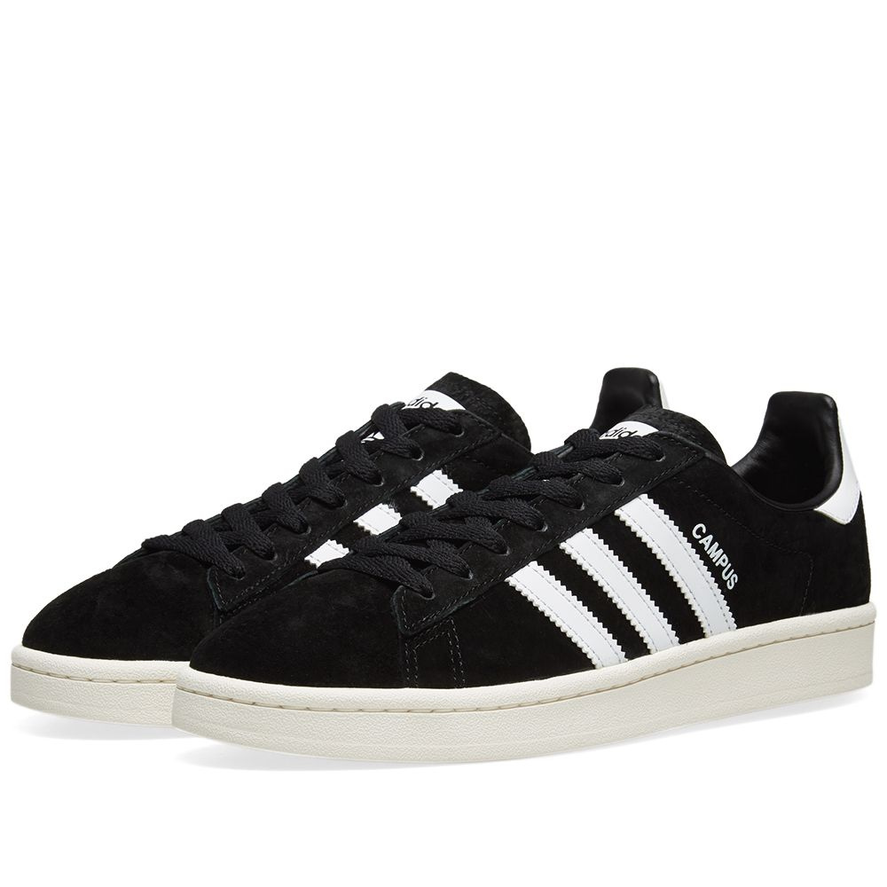 dd69333084de11 Adidas Campus Core Black   Chalk White