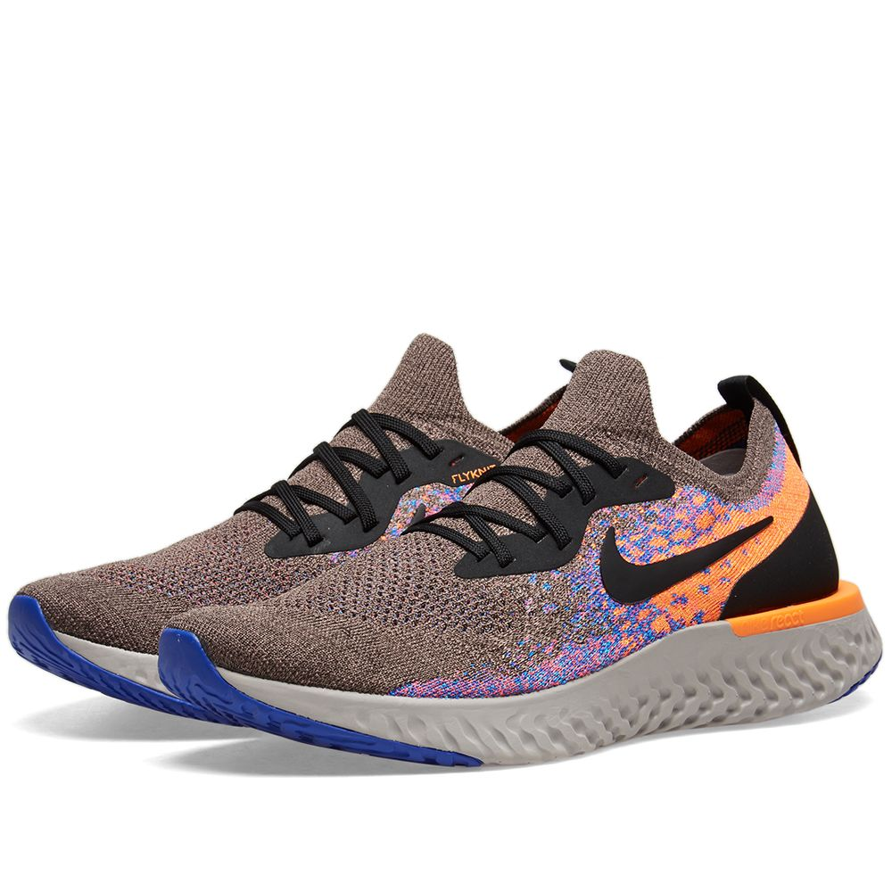 2554447b9d95 Nike Epic React Flyknit Brown