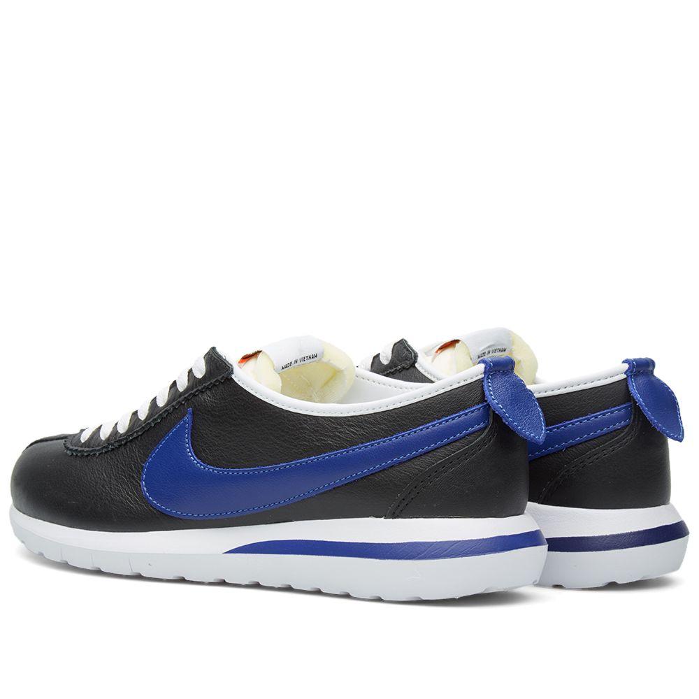 f4713822c941 Nike Roshe Cortez NM Leather. Black   Deep Royal. AU 155 AU 45. image