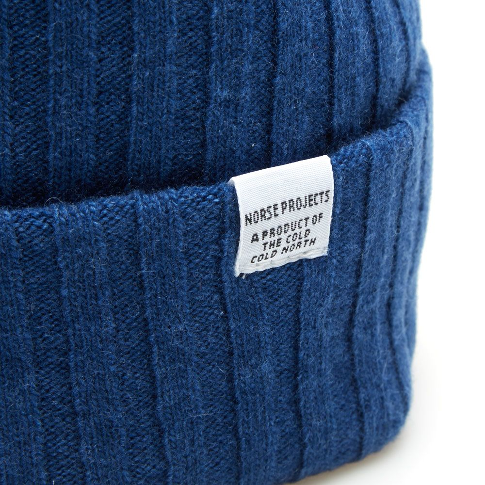 Norse Projects Lambswool Beanie. Indigo. £45 £29. image 2cd54f11fe8