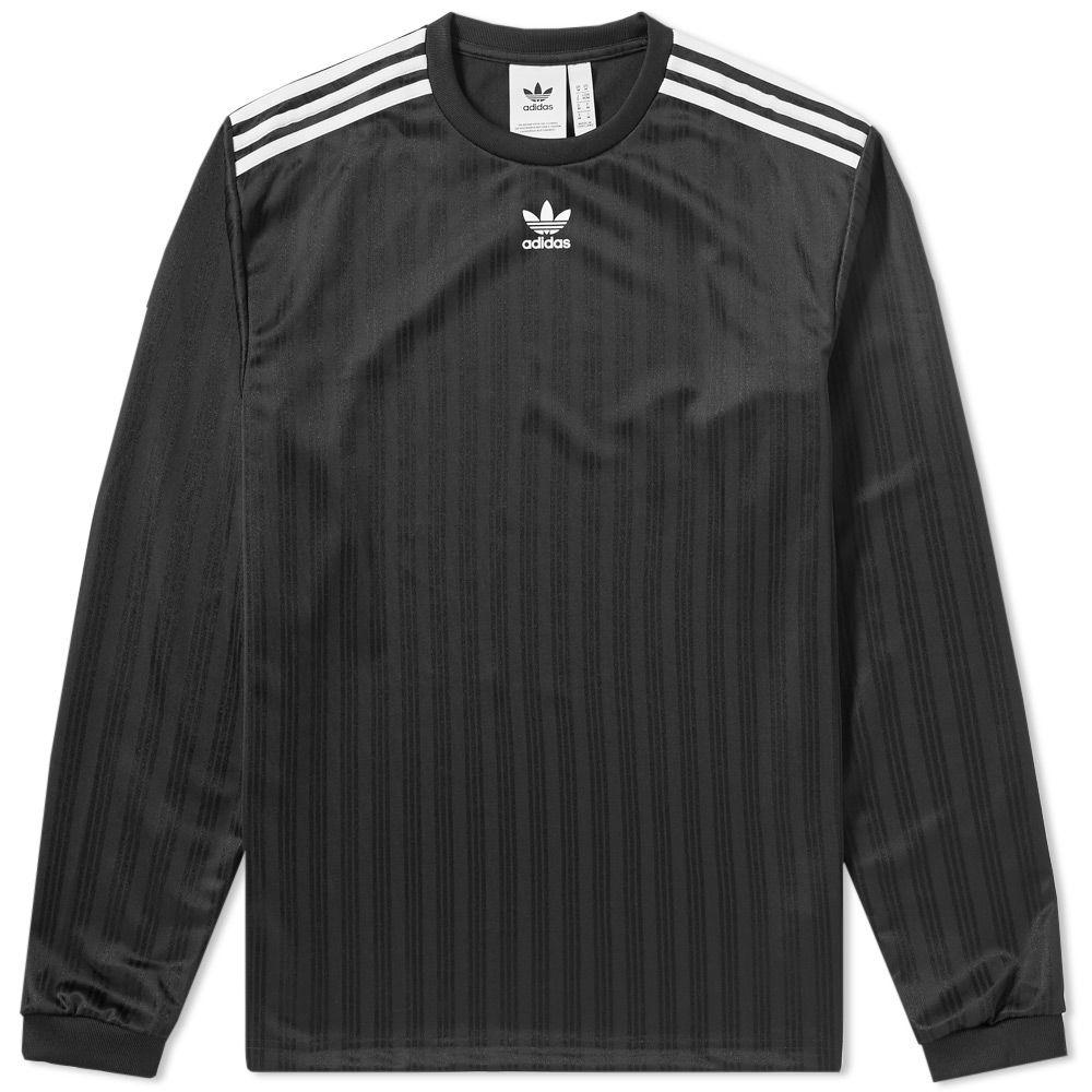 abac1919fee2 Adidas Long Sleeve Jersey Tee Black