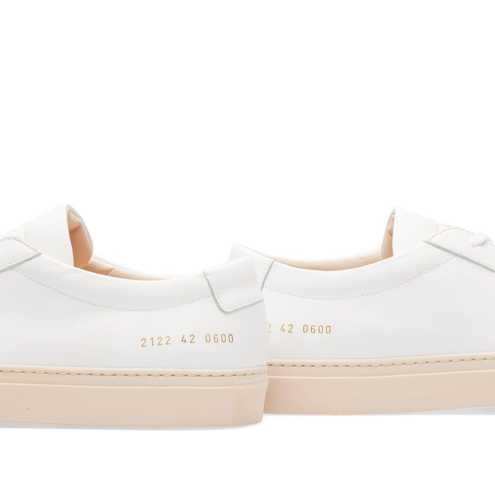 47578c8730b8 Common Projects Achilles Low Coloured Sole White   Nude