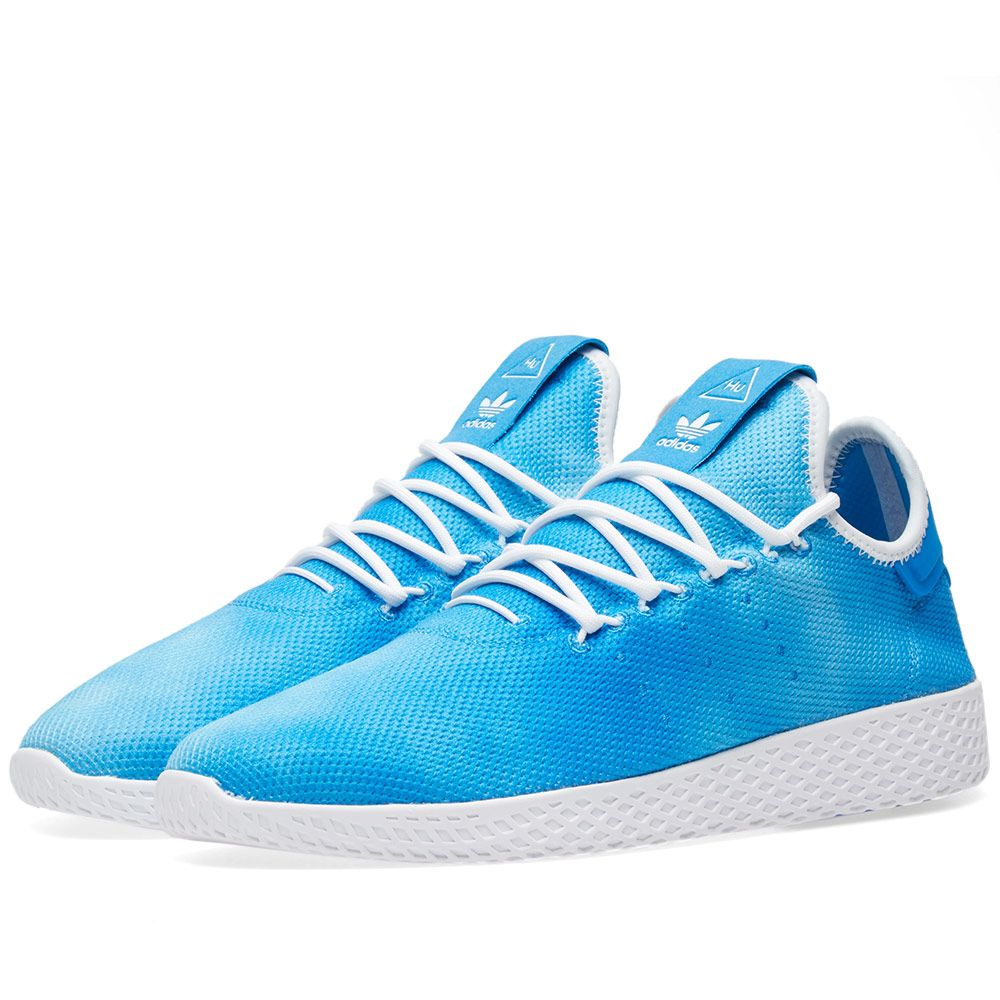Adidas x Pharrell Williams Hu Holi Tennis Bright Blue   White  2689e7493