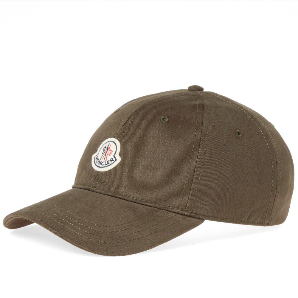 49f7a4f2fb1 Moncler Logo Baseball Cap Olive
