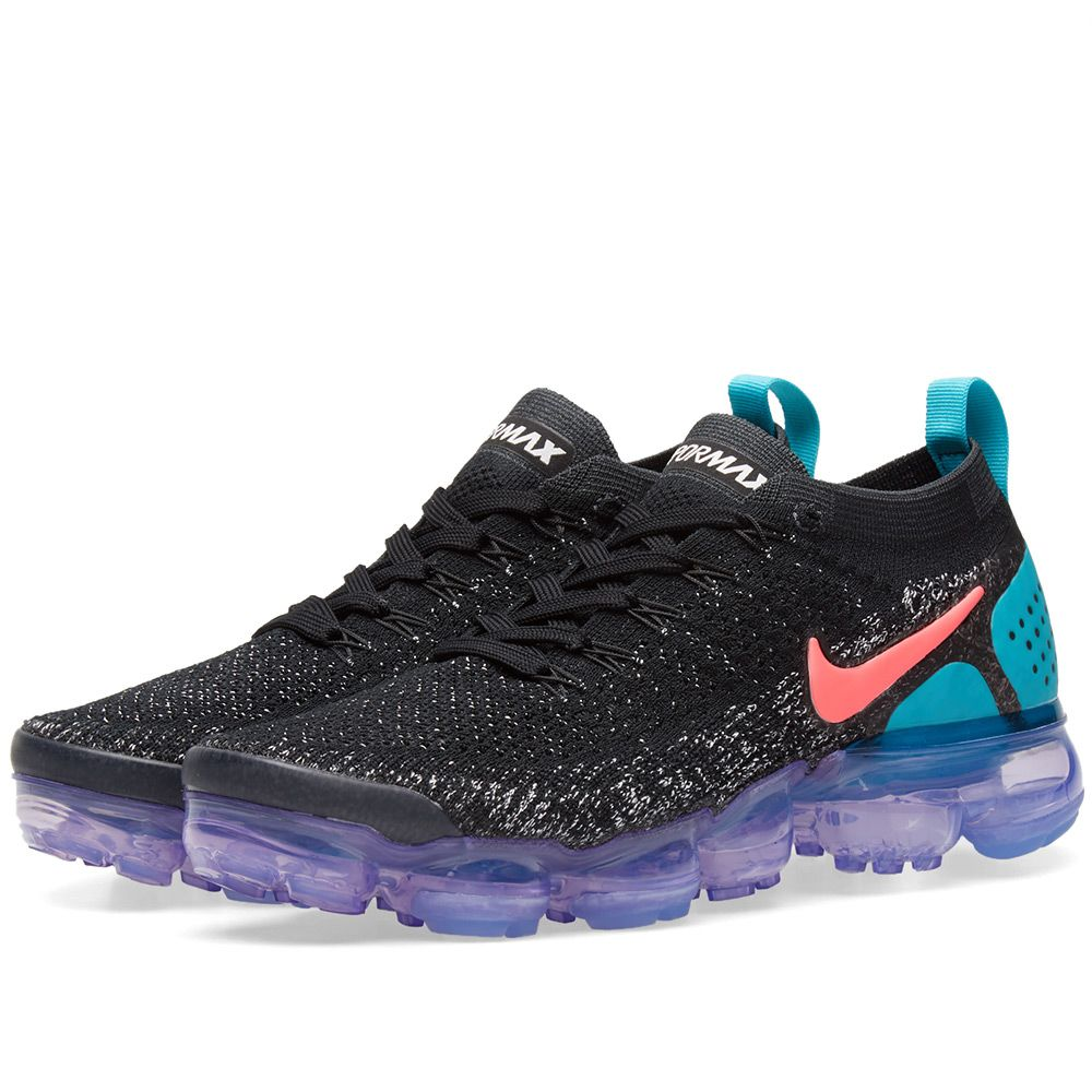 9ac0617471 Nike Air VaporMax Flyknit 2.0 W Black, Hot Punch & Cactus | END.