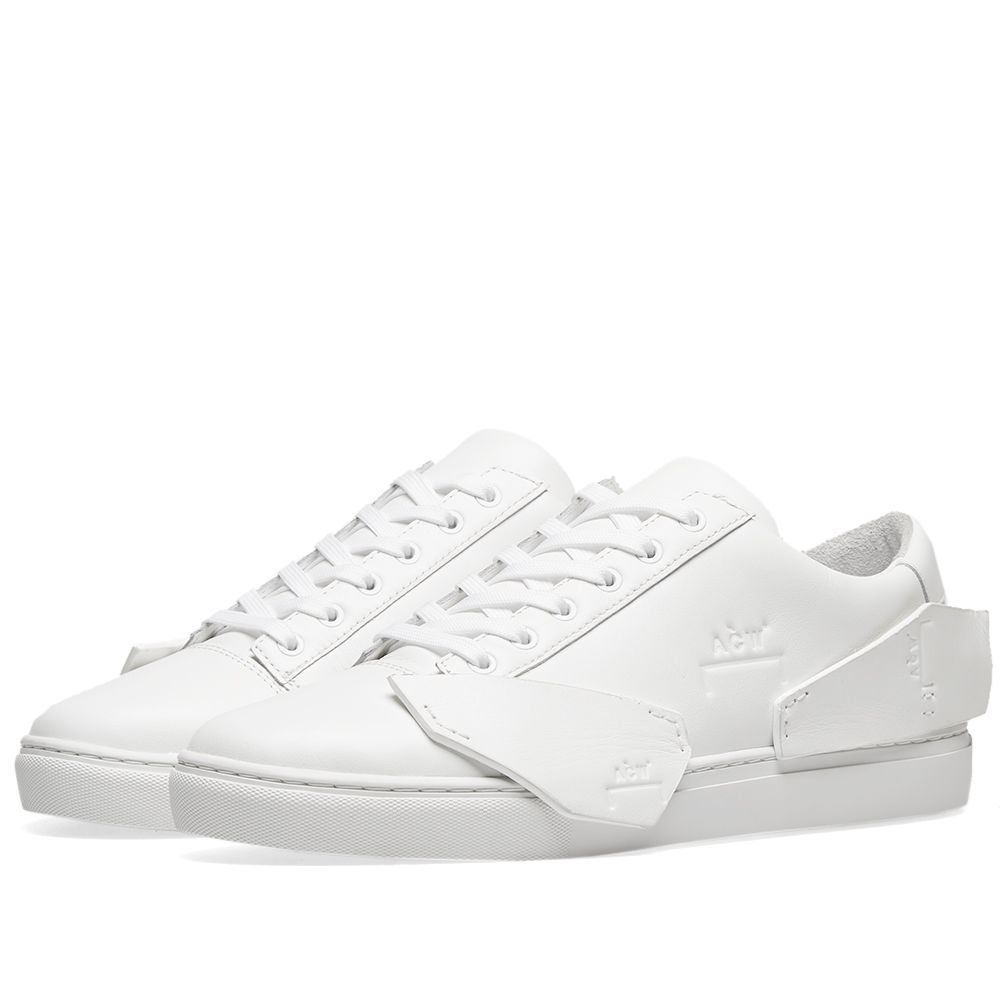 1de81eef3163 A-COLD-WALL  Multipanel Leather Sneaker White