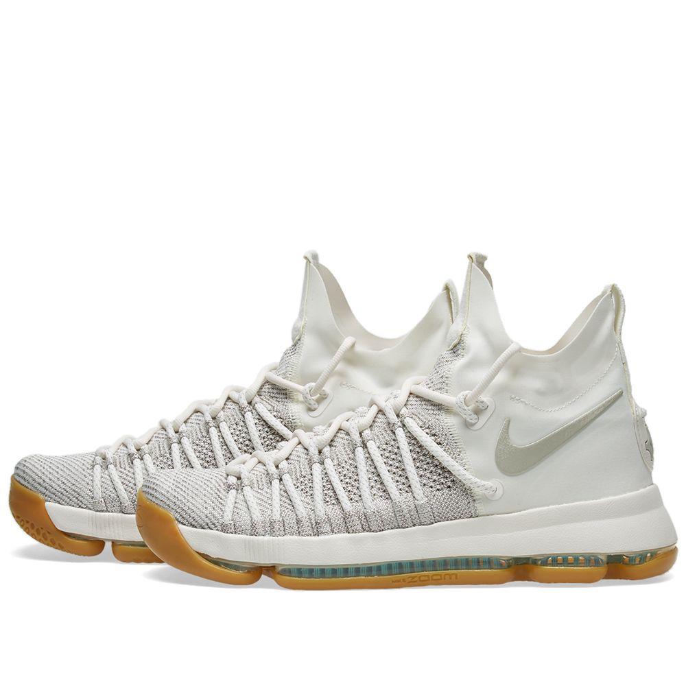 a398137b69442 Nike Zoom KD 9 Elite Pale Grey   Ivory