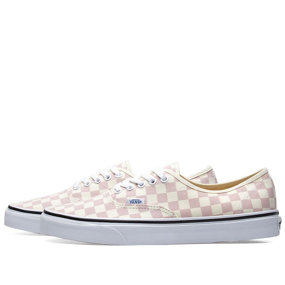 d8509d8702 Vans Authentic Checkerboard Chalk Pink   Classic White