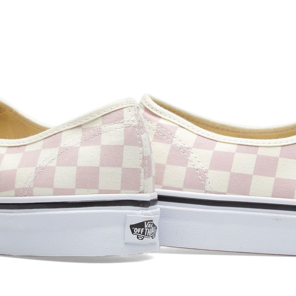 066bad34f75940 Vans Authentic Checkerboard Chalk Pink   Classic White