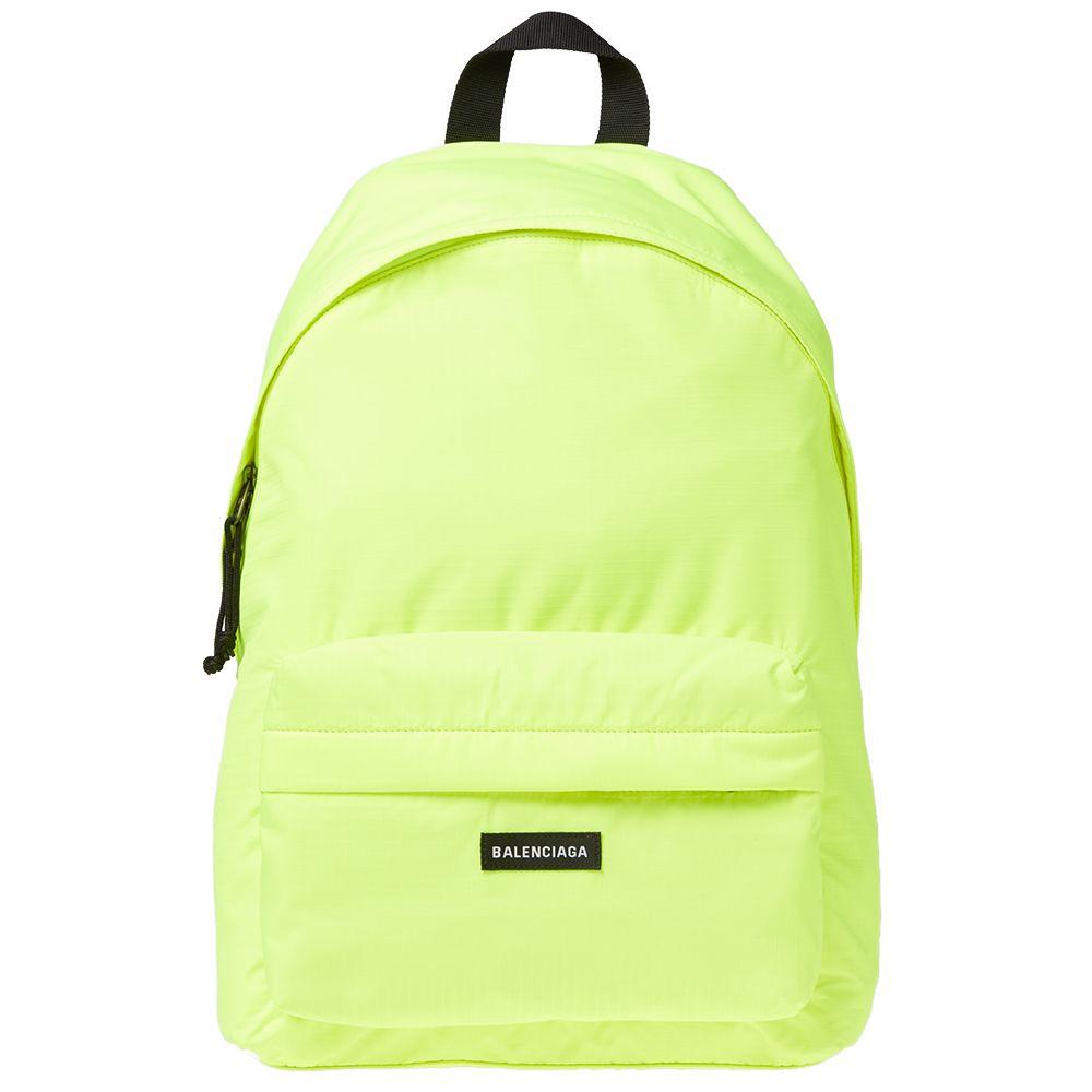 Balenciaga Explorer Backpack Fluro Yellow  49a61a02a5c64