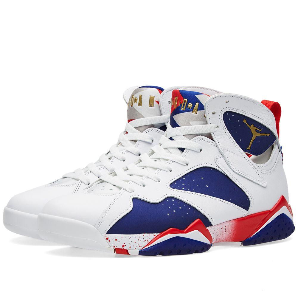 6d7684ba32c5a1 Nike Air Jordan 7 Retro White   Metallic Gold Coin
