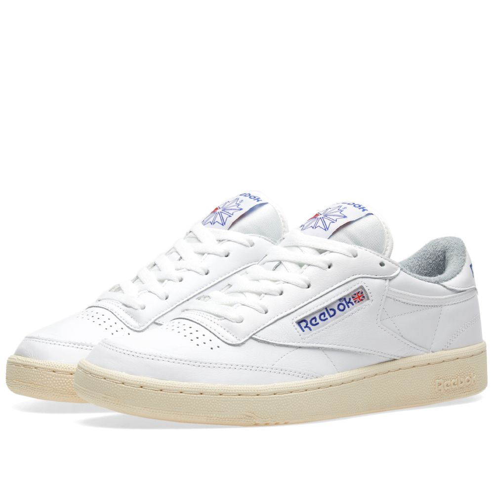 reebok club c 85 vintage white royal tin grey end. Black Bedroom Furniture Sets. Home Design Ideas