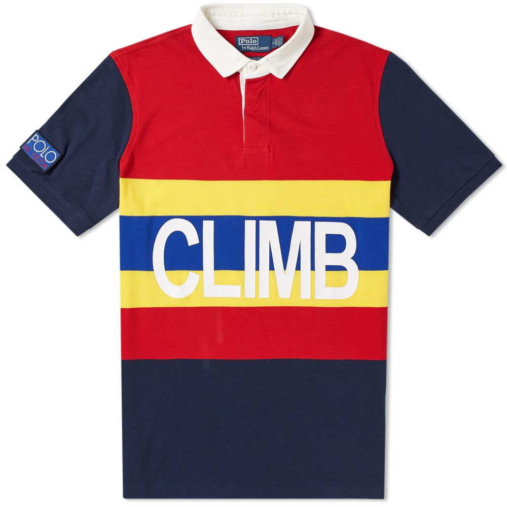 Polo Ralph Lauren Hi-Tech Climb Pique Polo Polo Sport Red Multi  1747a2b154e
