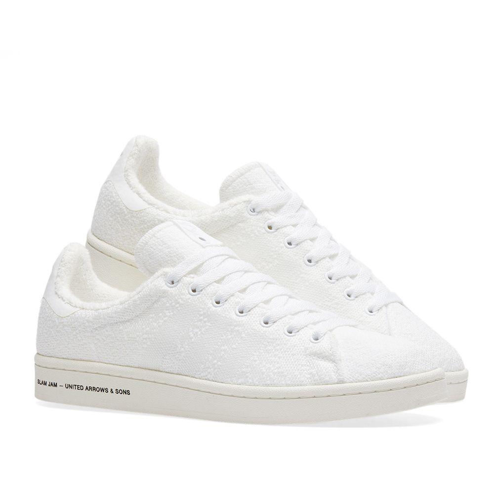 premium selection 651ef 3094e Adidas Consortium x United Arrows & Sons x Slam Jam Campus White ...