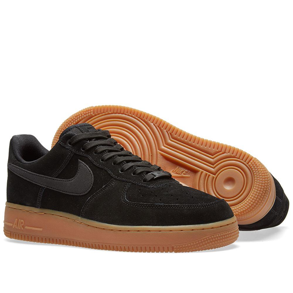 6590186ebcf9 Nike Air Force 1  07 LV8 Suede Black