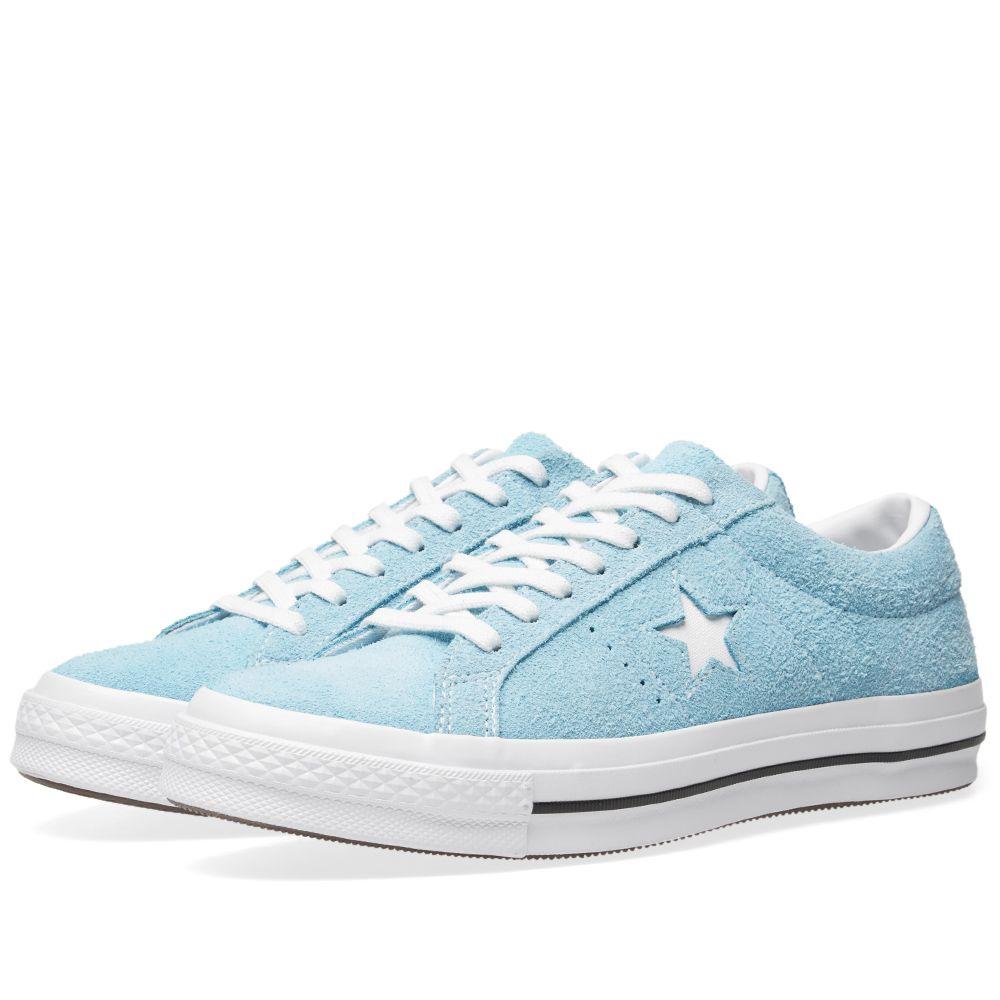 ebb7be90468980 Converse One Star Ox Shoreline Blue   White